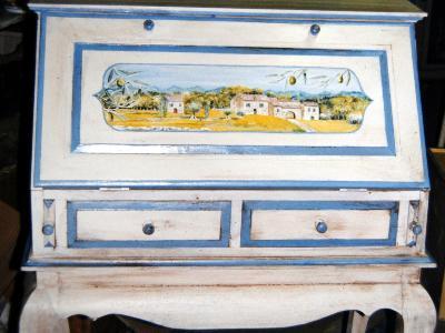 Relooking meubles artisan d art meuble peint cr ation d 39 entreprise en - Meuble peint provencal ...