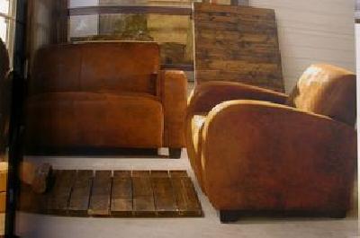 Fauteuils canap s bastide crations fauteuils canap s - Canape club cuir vieilli ...