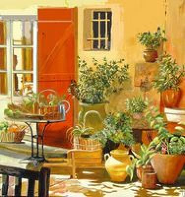 Fresque murale d cor muraux murs d cor s d coration - Decoration interieur mas provencal ...