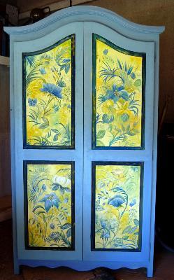 Vaisselier peint commodes peintes commodes d cor es decor sur meuble peinture d corative - Armoire ancienne relookee ...